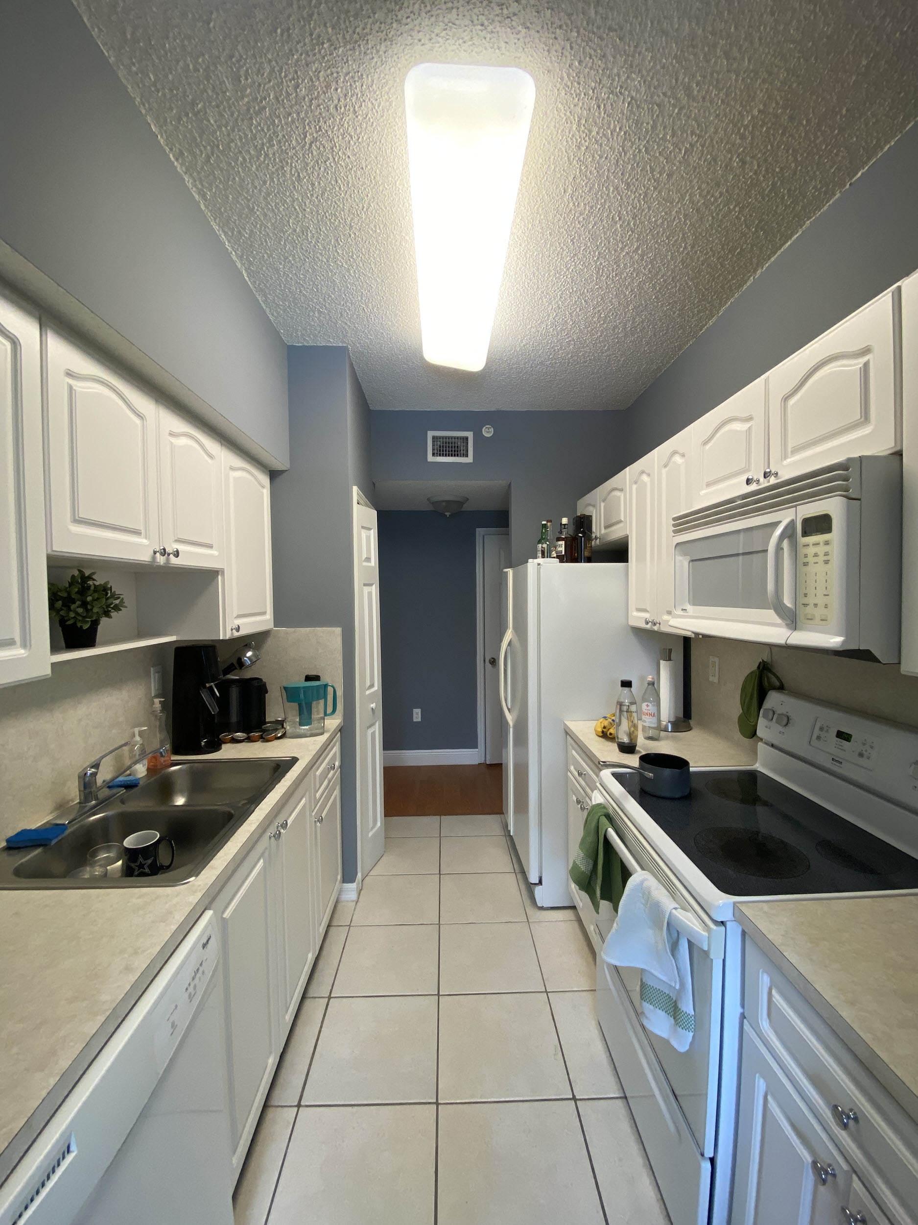 kitchen view university parc residence condo unit 220